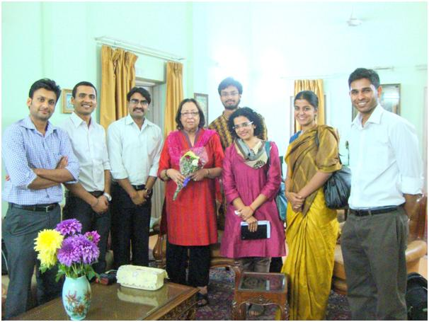 The Swaniti Team with Dr. Heptulla